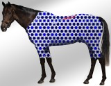 EQUINE ACTIVE  SUIT PRINTED STARS WHITE-BLUE-NAVY